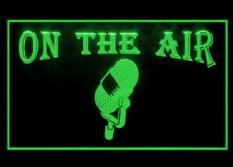 On The Air Microphone LED Neon Sign